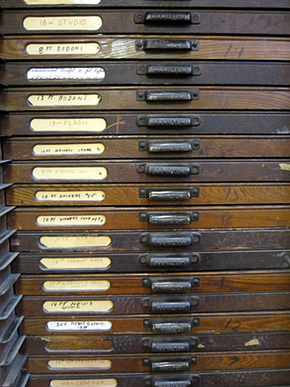 Type Case Drawers