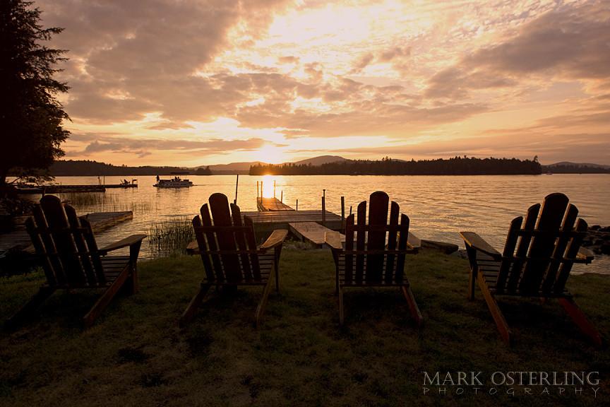 Adirondack Chairs View of Raquette Lake