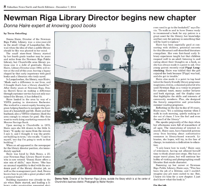 Librarian Starts a New Chapter